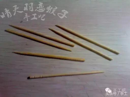 桥怎么做,牙签基础教程,小桥,竹签、筷子手工可借鉴