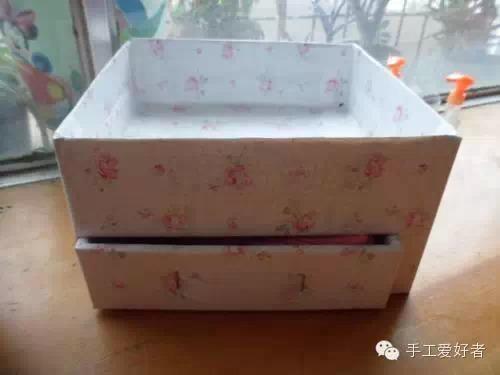 抽纸盒的做法,旧纸箱和旧鞋盒自制抽屉式收纳盒