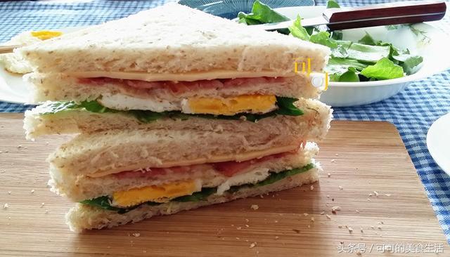 教你做营养全面的三明治,满分早餐,活力一天,面包边还可以当零食