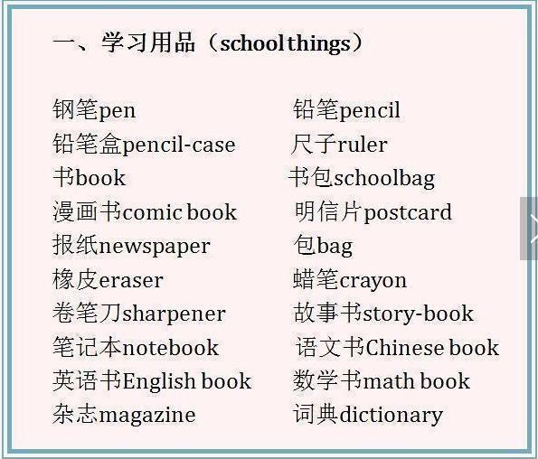 英语老师贴心整理:3~6年级词汇大全+短语大全,能抵十个补习班!