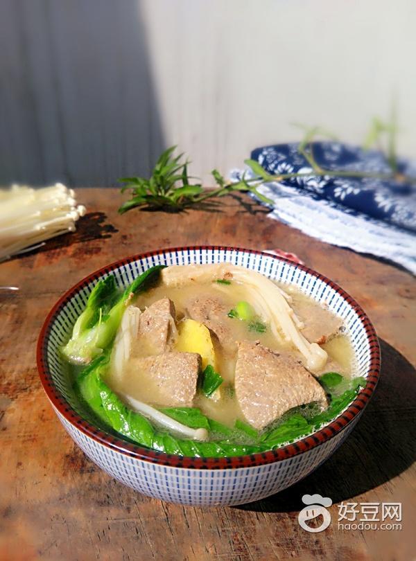 猪肝汤的做法,【11月养生】喝碗猪肝汤,补血又暖身