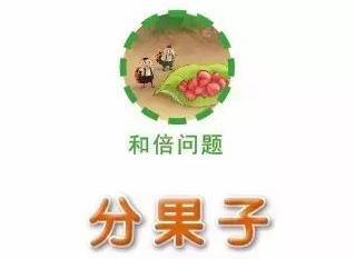 菜园虫虫学数学:分果子(和倍问题)
