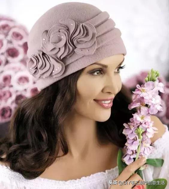 帽子怎么做,谁说帽子要织的才好看,瞧这棉布做的帽子多时尚,收藏以后做