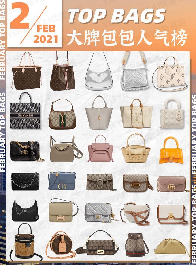 奢侈品包包有哪些,奢侈品鉴定 2月大牌包包人气榜单速递 二手奢侈品爆款请查收