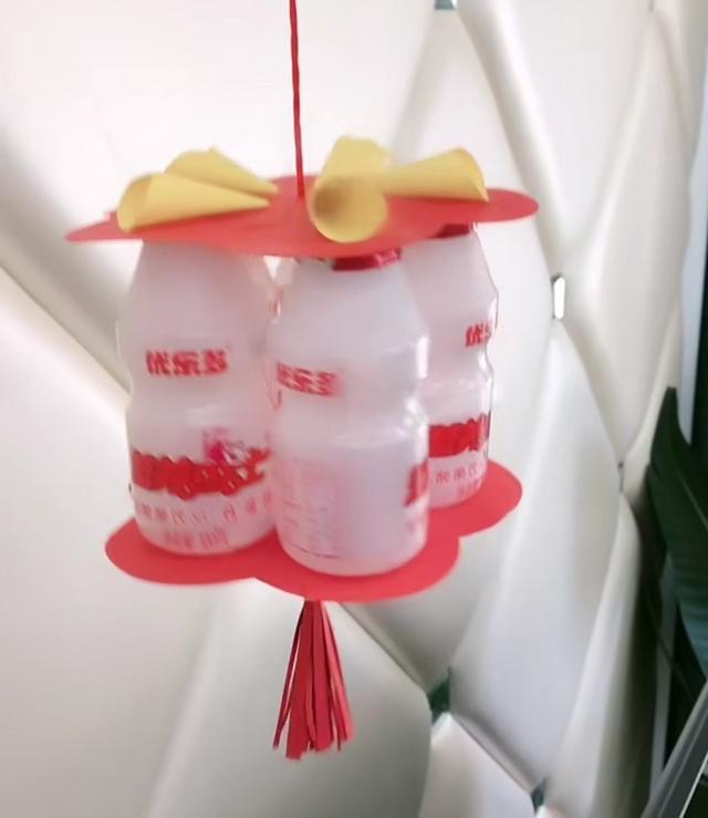 灯笼怎么做简单又漂亮,废弃酸奶瓶,制作一个中秋灯笼简单好看