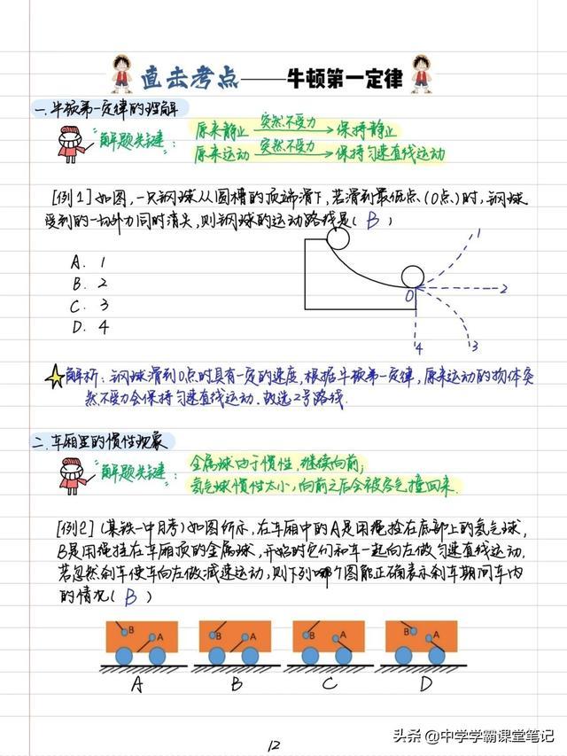 耗时数月,我将初中物理4册重难点整理为百页手写笔记和知识框架