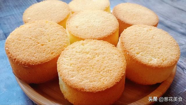 蛋糕蛋糕怎么做,4个鸡蛋1碗面粉,教你自己在家做老式鸡蛋糕,还是小时候的味道
