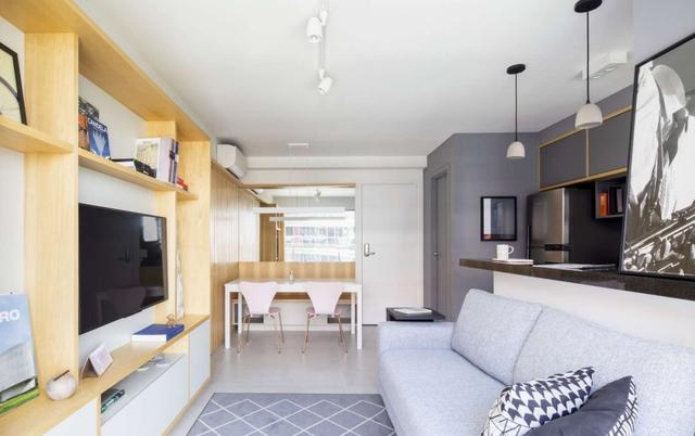 40平米小户型装修效果图,40㎡简约单身公寓,面积虽小,却藏着不少用心的设计,很实用