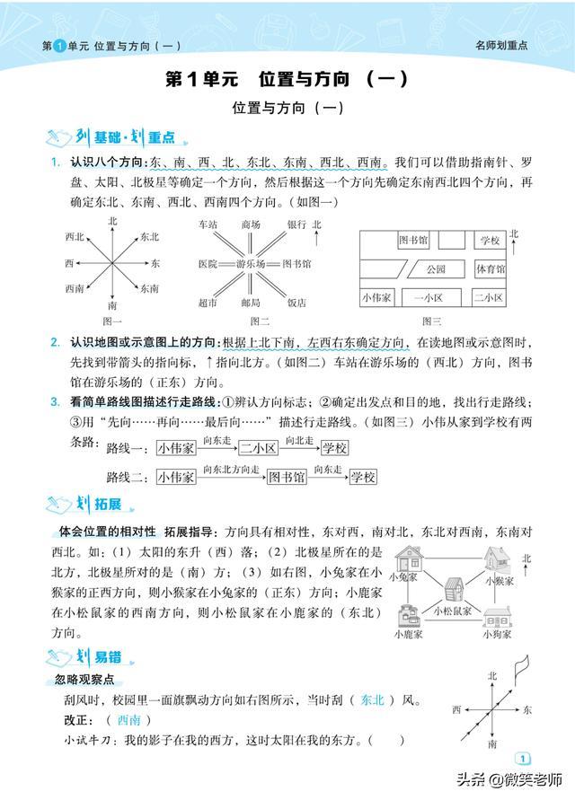 三年级下册数学「名师划重点」,基础知识重点掌握,同步课堂内容