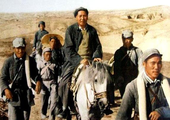 骏马图片,毛主席的马夫侯登科,训练了一匹马,在关键时候救了毛主席