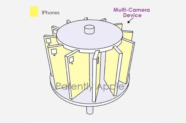 制作vr视频,苹果新专利:14台iphone组成,可用于制作VR全景视频