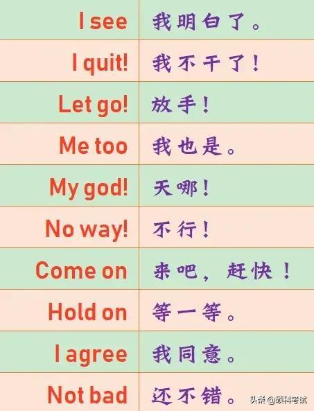 口语短句,这些英语短语坚持每天练一句,英语口语会有大提升,收藏好!