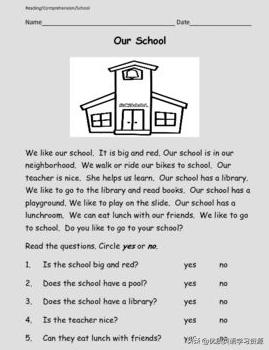 描写校园的短句,英语原版阅读:Our school