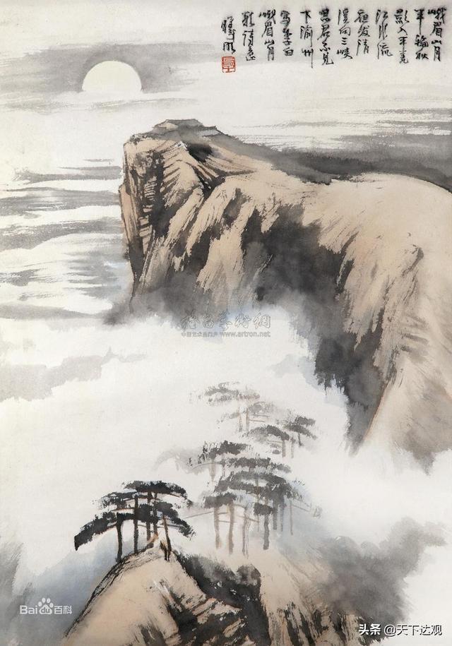 峨眉山的诗,《峨眉山月歌》 李白诗,展现一幅千里蜀江行旅图,意境清朗秀美