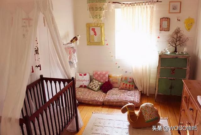婴儿房,别致的波西米亚婴儿房