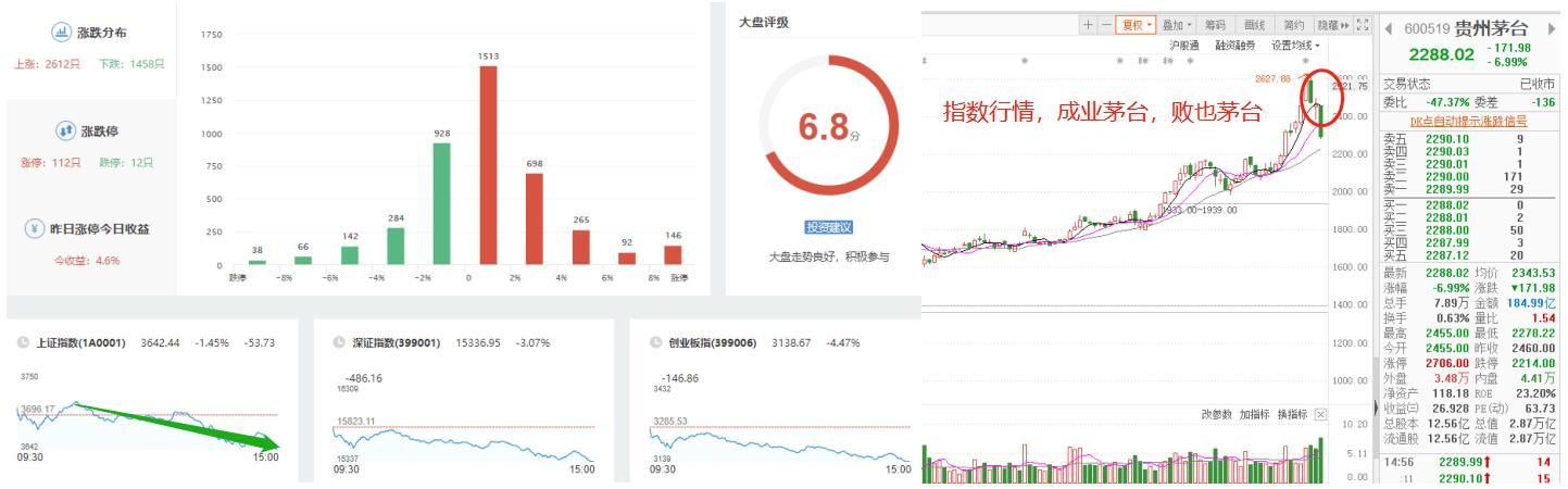 春节后茅台酒丑人多作怪,股票价格持续回调函数,今日跌穿230