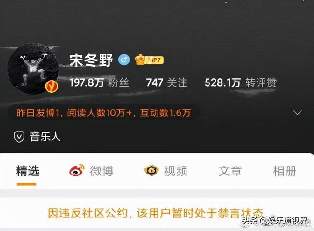 民谣歌手宋东野微博被禁 全球新闻风头榜 第2张
