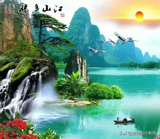 微信背景图片,风景如画的壁纸背景图,以及微信头像图