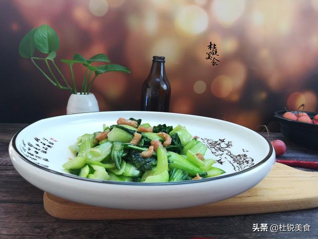 海米油菜的做法,没想到海米炒油菜还有这么多窍门,大厨支招,把家常菜做到精致