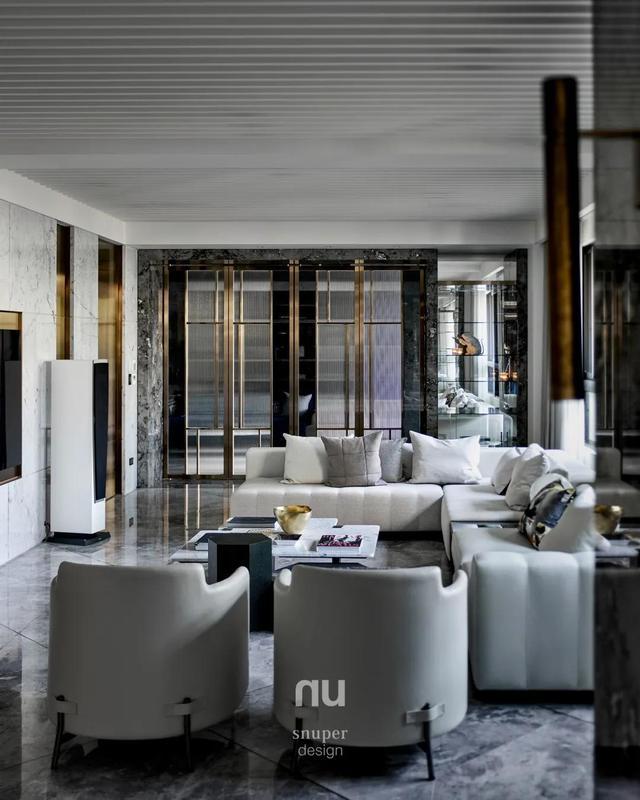 别墅装修,660m²豪宅别墅,靠两间毛坯房合并,大理石奢华装修,太赞