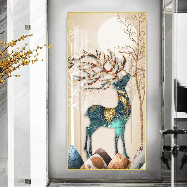 羽毛寓意,玄关挂鹿图片是什么意思 玄关挂画有什么禁忌