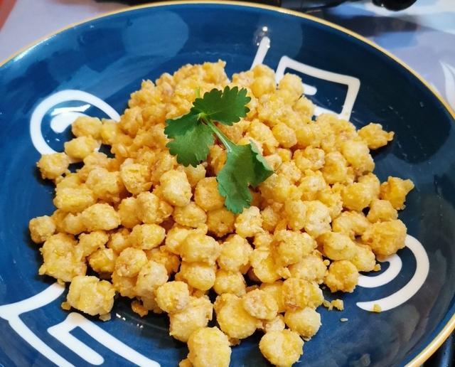 黄金的吃法,黄金玉米粒,就是这个味道!粒粒是黄金