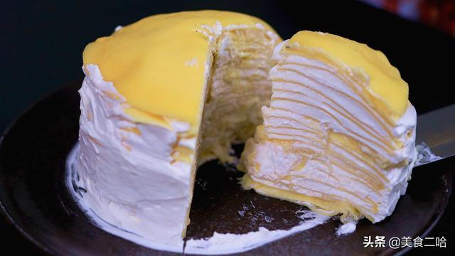 蛋糕怎么做蛋糕,千层蛋糕:揭秘让饼皮细腻薄软的秘诀,无需模具,做法简单又家常