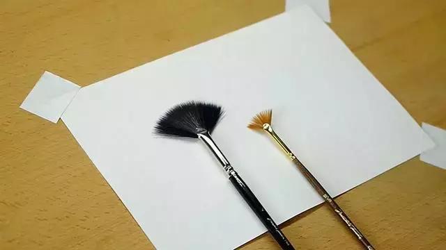 怎么做笔,一学即会,水彩扇形笔的4种简单技法