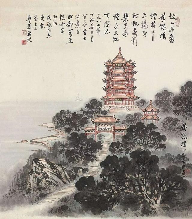这首诗写的是,李白最著名的两首黄鹤楼诗,第一首小学生都会背,第二首鲜有人知