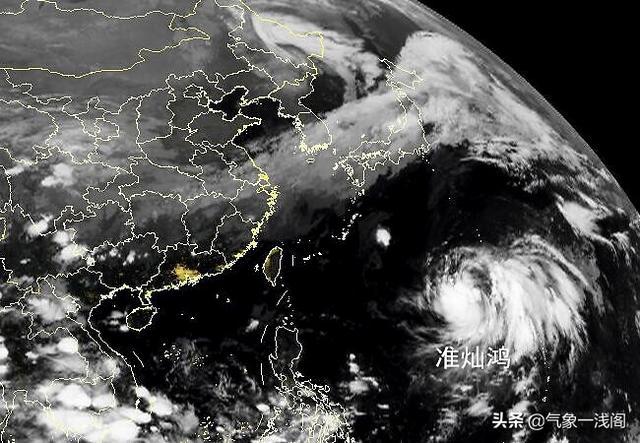 台风消息最新预报,又一个准台风,官方预报:准灿鸿指向我国,或超12级还大转向