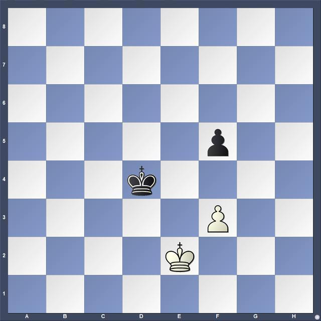 国际象棋兵的吃法,国际象棋小课堂:兵类残局几何对王3