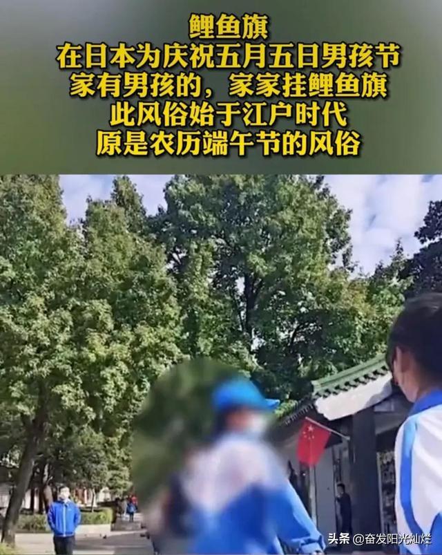 """男子带团举鲤鱼旗游客提醒反被驳:""""这是中国传到日本去的"""" 全球新闻风头榜 第5张"""