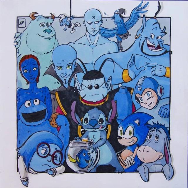 linda漫画,那些年一起追过的动画片,按颜色进行了分类,你能认出来多少?
