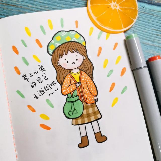 简笔画图片大全可爱,9张超萌的小女孩简笔画, 很可爱,你们喜欢哪一张