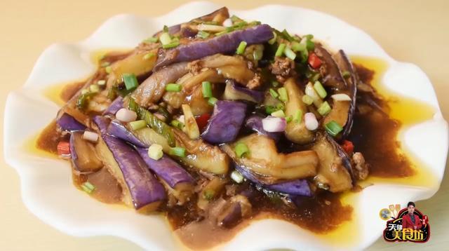 肉末茄子的家常做法,肉末茄子最好吃的做法,这样做颜色好看不吸油,非常的好吃下饭