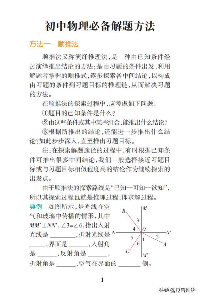 初中物理公示定律+要点透析
