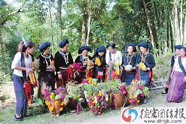 """景颇族的传统节日,德宏新闻   麻竹岭杆村民小组举行""""丢瓜""""节"""