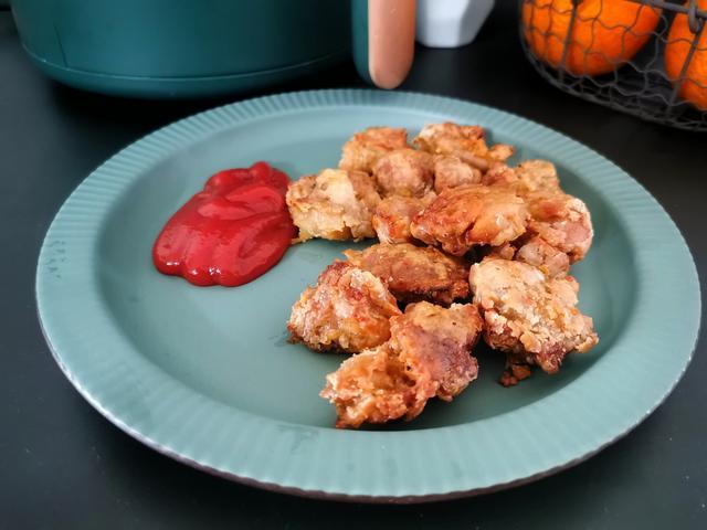 盐酥鸡的做法,别点外卖了,8块钱做一大盘盐酥鸡,无需油炸,做法看一遍就会