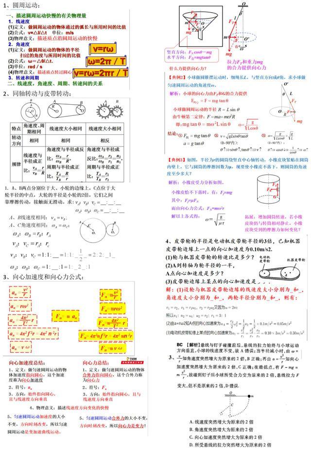 干货中的干货:高中物理必修2全册常考模型归纳,强烈建议收藏