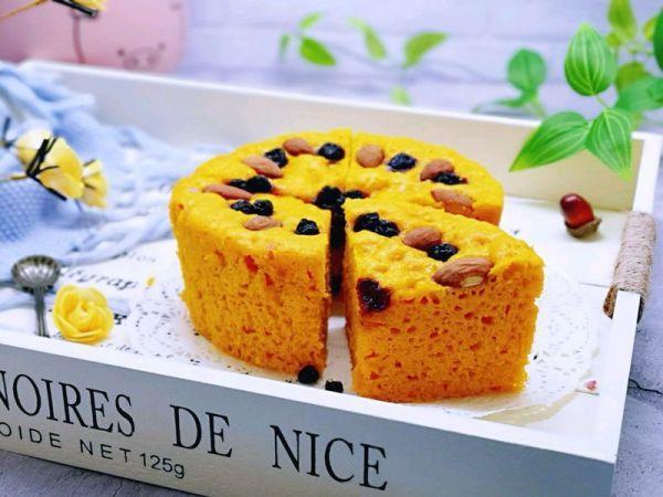 蓝莓干的吃法大全集,蓝莓杏仁南瓜发糕#带着美食去踏青#