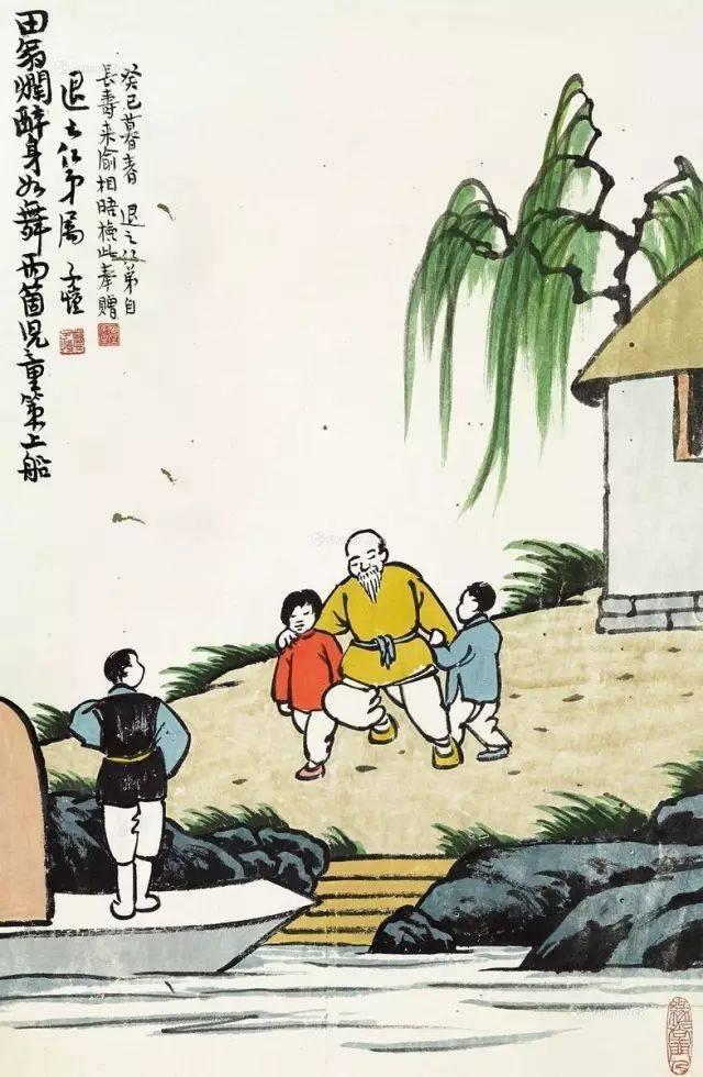 丰子恺漫画,丰子恺儿童水墨漫画100幅