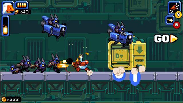 横版网页游戏,横版动作游戏《暴走大鹅》公布 计划于2021年发售