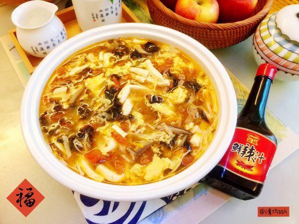 酸辣汤怎么做,#福气年夜菜#暖心暖胃,减脂消食-家常酸辣汤