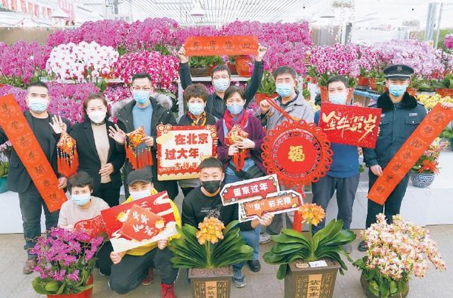 北京花卉市场,春节期间花市不停!花卉从业者留京过节,给市民的家增添新春色彩
