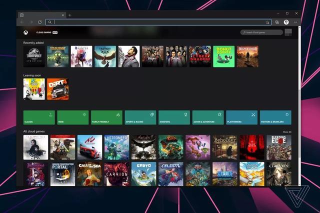网页版,外媒揭露网页版Xbox云游戏界面