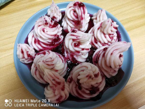 蓝莓干的吃法大全集,配着这盘蓝莓山药,米饭可以吃三大碗
