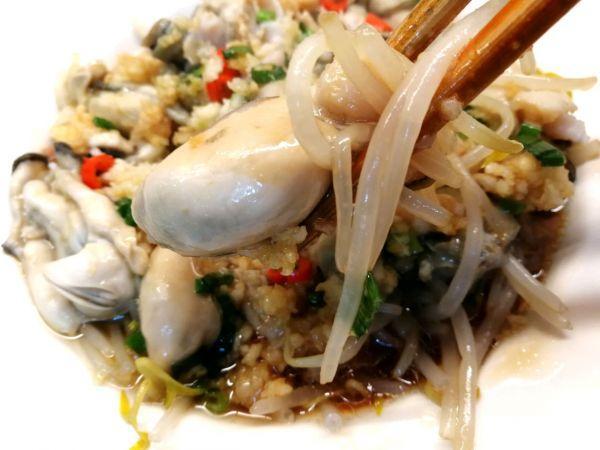 生蚝的吃法,#白色情人节限定美味#原汁原味的豆芽拌生蚝