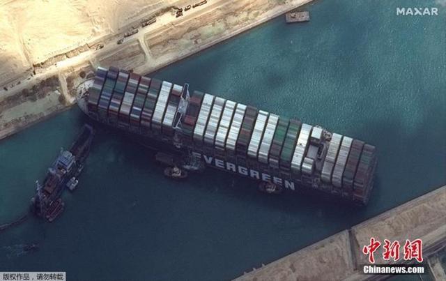 300艘船排队等过苏伊士运河 疏通后将全天放行 全球新闻风头榜 第1张