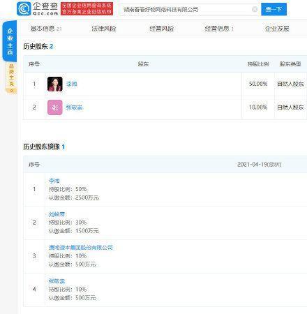 李湘王岳伦同时退出电商公司 夫妻二人已无商业关联 全球新闻风头榜 第4张