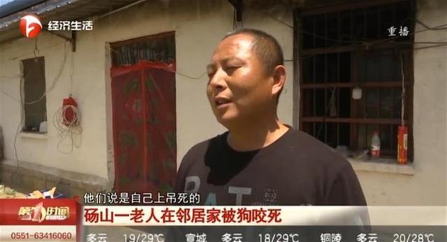 安徽一老人被狗咬死,事后狗上吊自杀?村干部:狗主人自己打死的 全球新闻风头榜 第1张